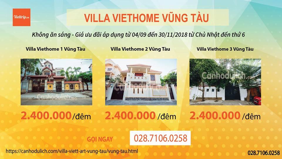 Khuyến mãi Viethome villa Vũng Tàu
