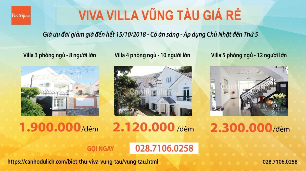 Khuyến mãi tại Viva villa Vũng Tàu