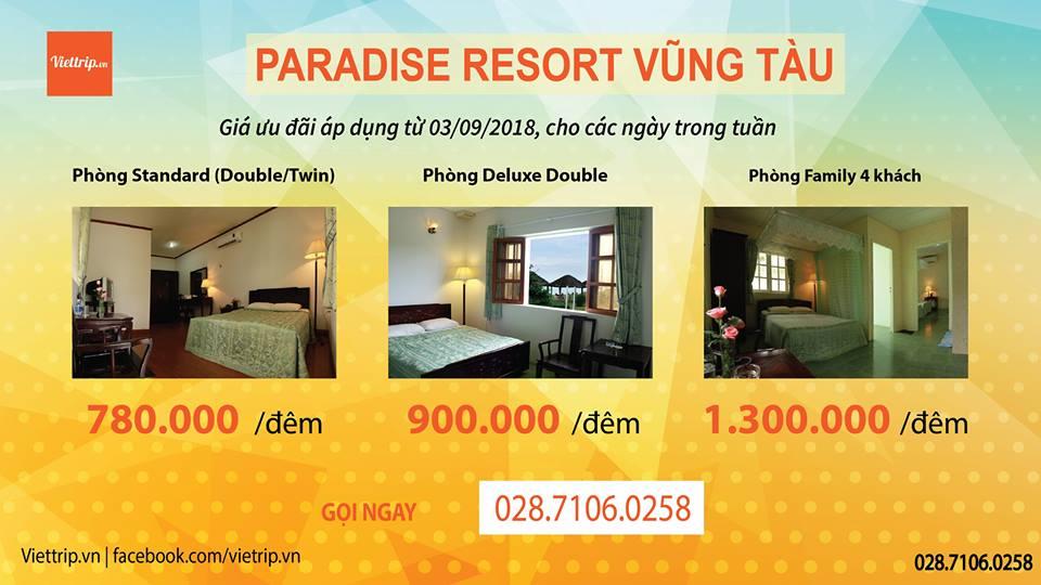 Khuyến mãi Paradise resort Vũng Tàu